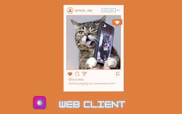 Web client for Instagram™