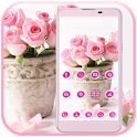 Pink Rose Theme love icon