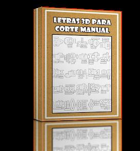 Letras 3d Corte Manual Formatos Png, Svg, Pdf E Sillhouette