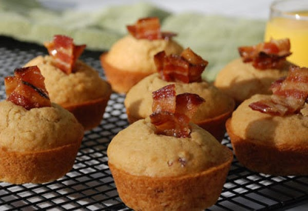 Savory Maple Muffins With Candied Bacon Recipe