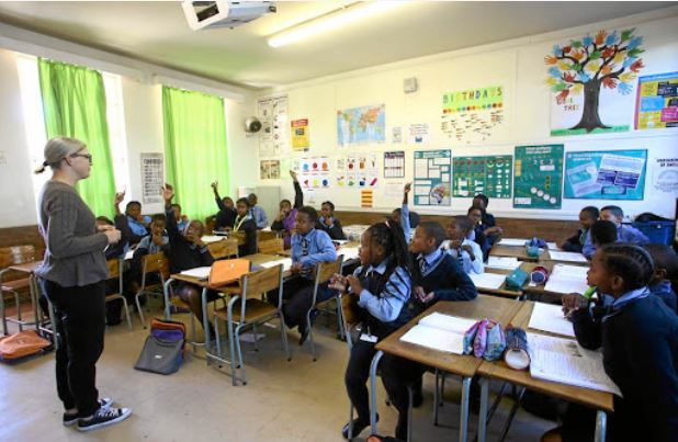There are no more white children in this Grade 5 class at Saxonwold Primary School in Johannesburg.