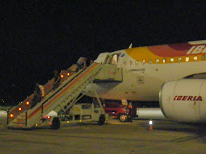 Photo: Arrival on Saturday (Pamplona airport)