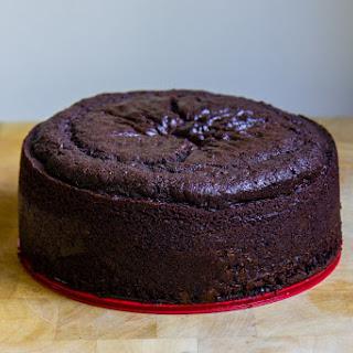 Chocolate Celebration Cake With Strawberries + Cream.