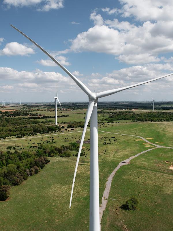 Ferme éolienne à Minco, État de l'Oklahoma (États-Unis)