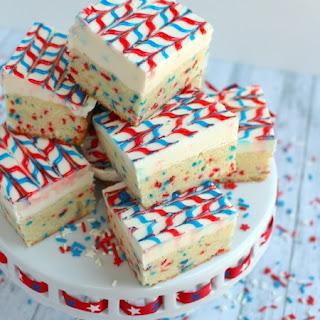 Stars and Stripes Sugar Cookie Bars.
