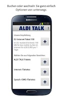 Screenshot of ALDI TALK