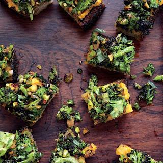Spiced Sweet Potato and Roasted Broccoli Toasts