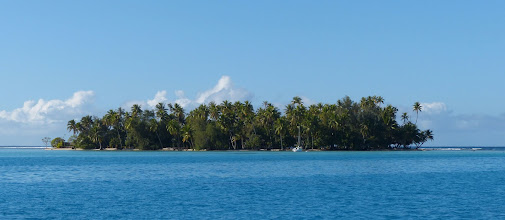 Photo: Motu Mahaea by day -we'll snorkel off the south and east sides of it.