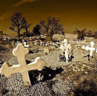 Cimitero comune per cristiani e mussulmani di Joal-Fadiout di Frankrano