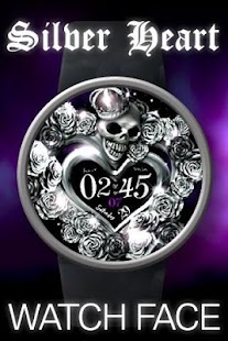 Silver Heart Watch Face- screenshot thumbnail