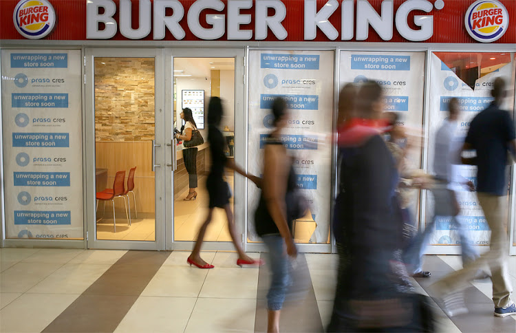 A Burger King outlet at Park Station in Johannesburg. Picture: THE TIMES