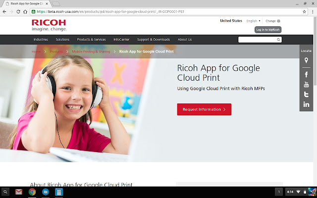 RICOH Print for Chrome