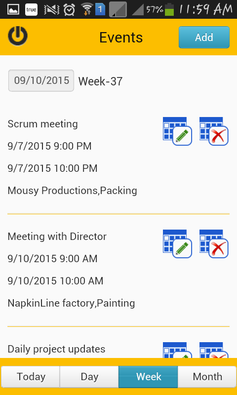 TimeCard for SharePoint Mobile- screenshot