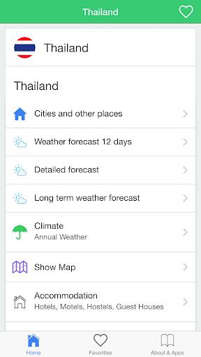 Thailand weather forecast