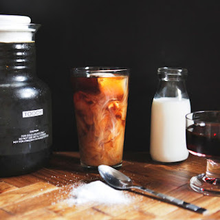 Burnt Sugar Simple Syrup + Cold Brew Iced Coffee