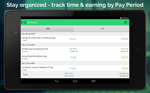 Work Hours Tracking & Billing- screenshot thumbnail