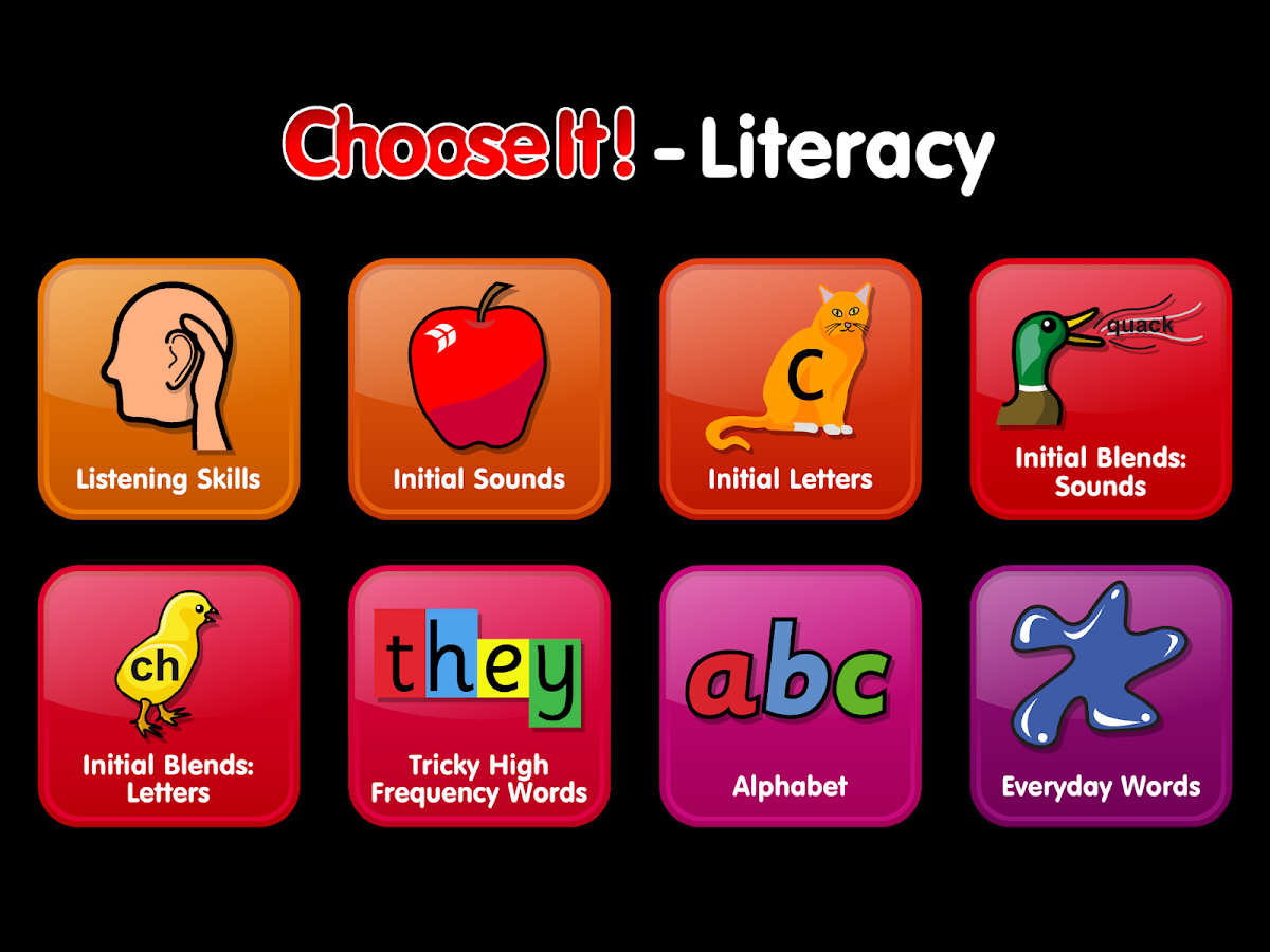 ChooseIt! Literacy- screenshot