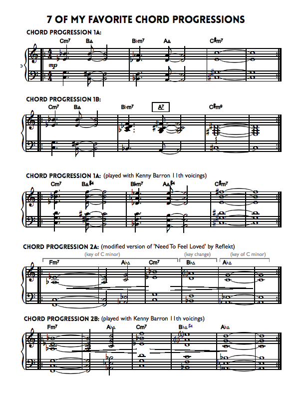 7 Chord Progressions Sheet Music