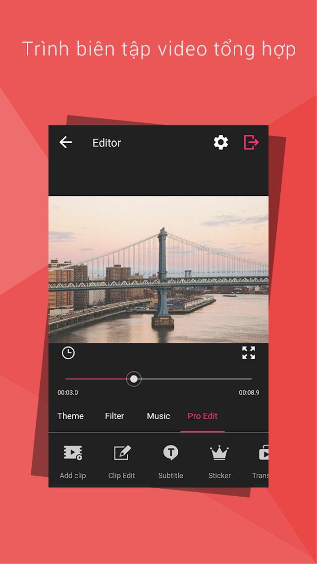 VideoShow Pro -Video Editor,music,cut,no watermark v8.1.6pro