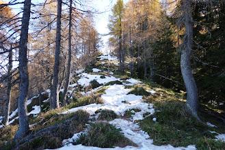 Photo: položna pot po grebenu