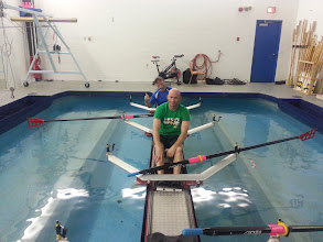 Photo: December 2013 - Rowing practice at the Calgary Canoe Club