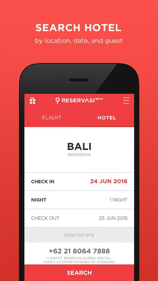 Reservasi.com - Flight & Hotel- screenshot