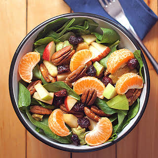 Spinach and Fruit Salad with Balsamic Vinaigrette.