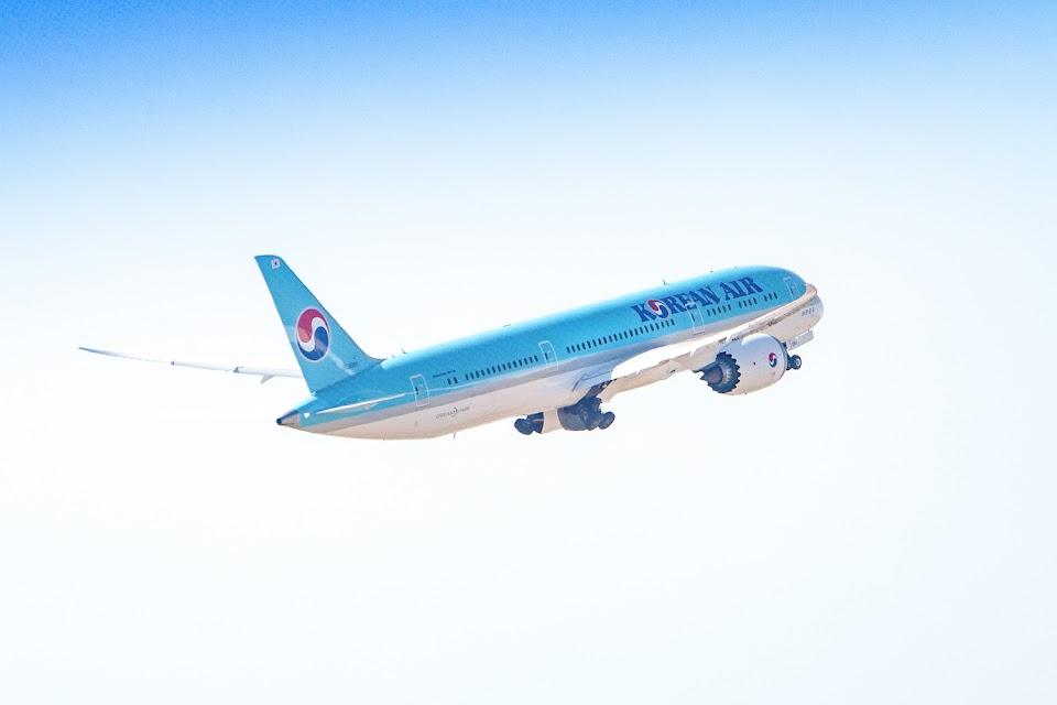 Korean Air plane in flight