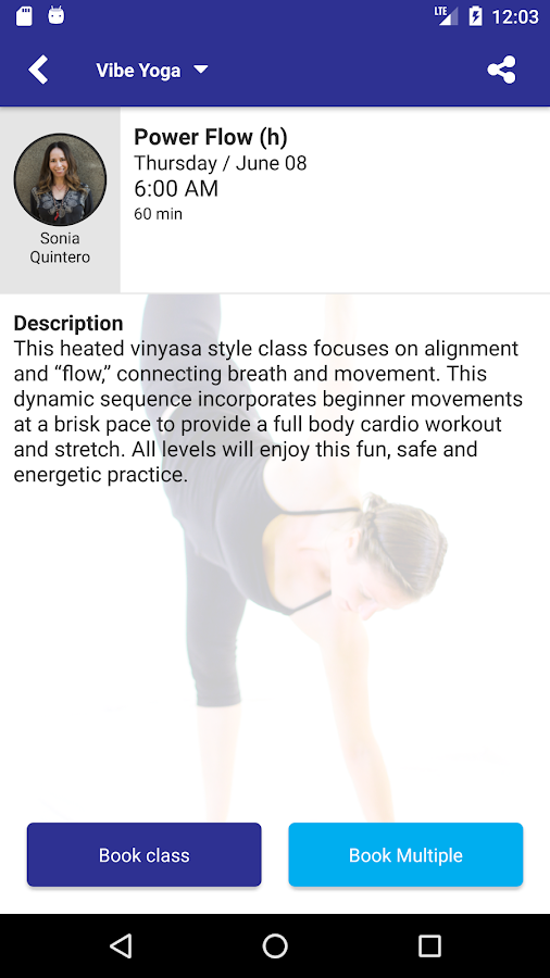 Vibe Yoga App- screenshot