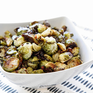 Roasted Brussels with Shallots, Maple & Mustard.