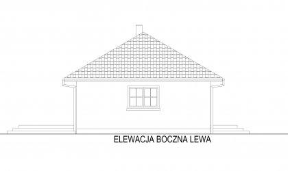 Domek Miodowy-M - Elewacja lewa