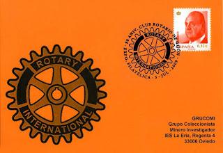 Photo: Matasellos del 80 aniversario del Club Rotary