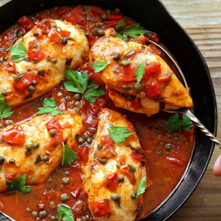 Chicken Breasts With Tomatoes and Capers #Recipe