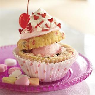 Funfetti® Valentine Sundae Cupcakes.