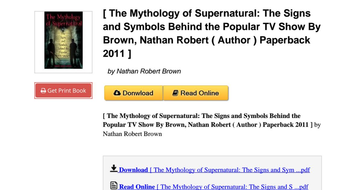 The Mythology Supernatural Symbols Paperback B006dnrklupdf Google