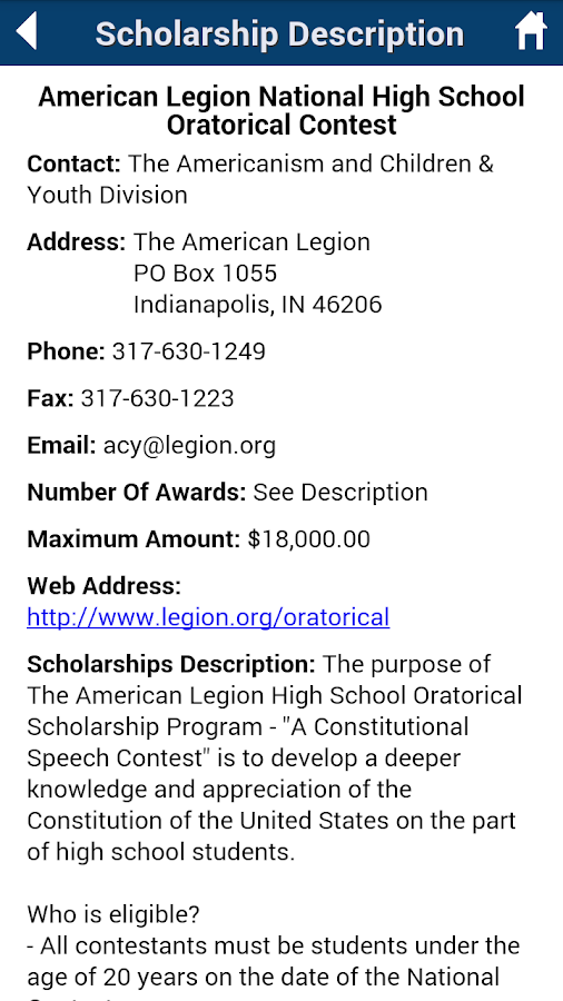 Scholarships.com- screenshot