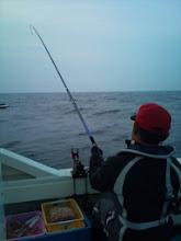 Photo: 「釣り大王 戸田さん」も食わせっぱなしです。