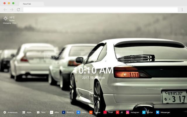 Nissan New Tab Page HD Car Theme