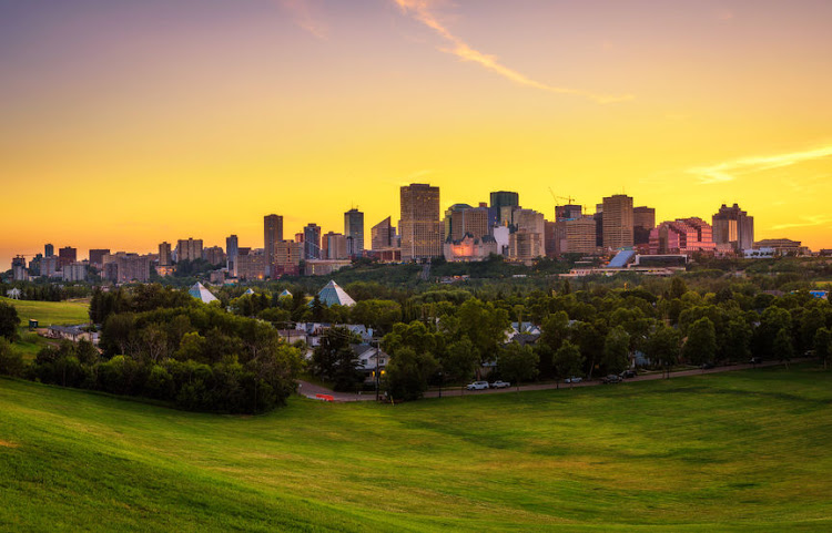 Edmonton, the capital city of Alberta, Canada.