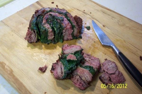 Flank Steak,rolled & Stuffed..a Stove Top Recipe