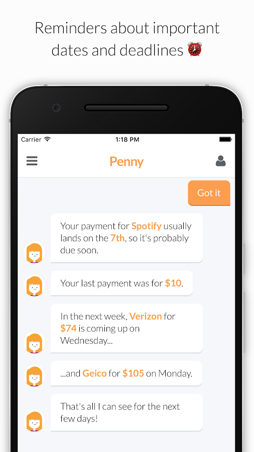 Penny: Track Spending & Finances, Save Money- screenshot
