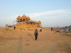 Photo: cremation site, jaisalmer