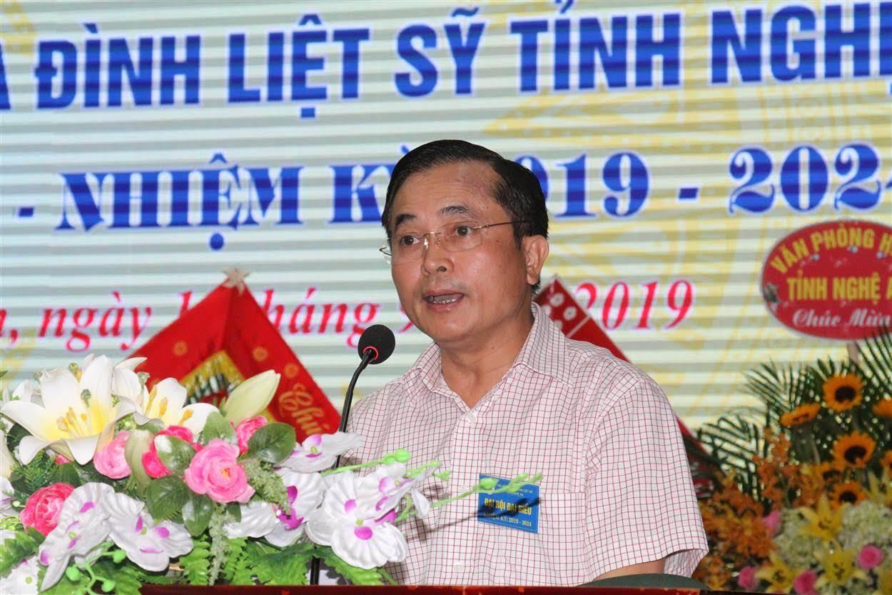 Ông Lê Ngọc Hoa, Phó Chủ tịch UBND tỉnh phát biểu tại Đại hội