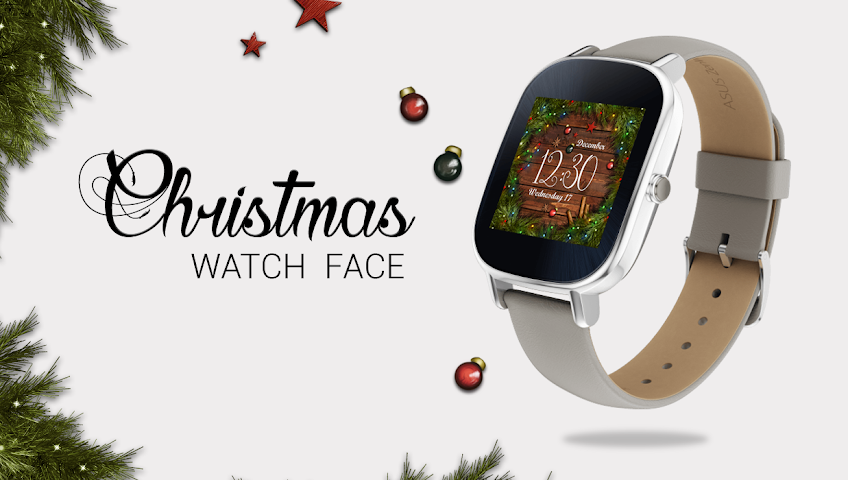 android Watch Face: Christmas Screenshot 1