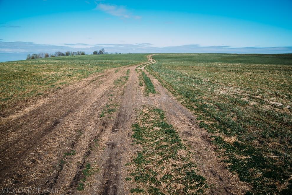 Дорога на Замостье через холм