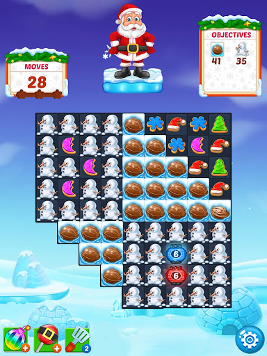 Christmas Cookie - Santa Claus's Match 3 Adventure modavailable screenshots 14