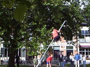 Photo: Friese Folklore in Heerenveen. Firlejeppen