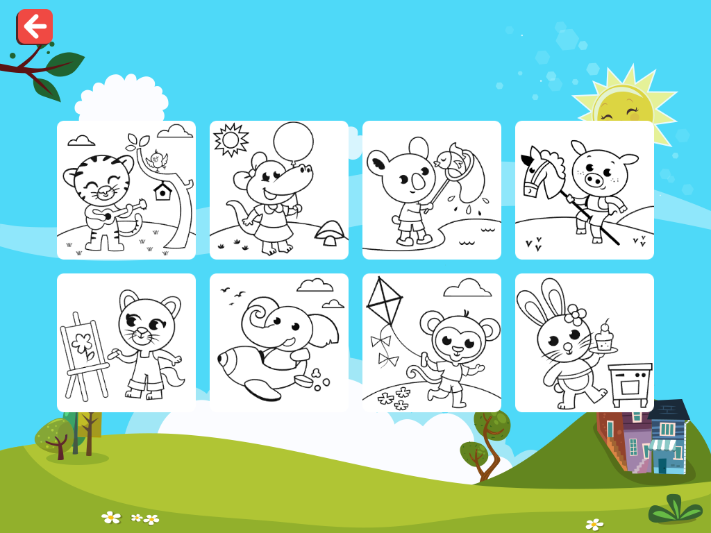 finger paint coloring book screenshot - Paint Coloring