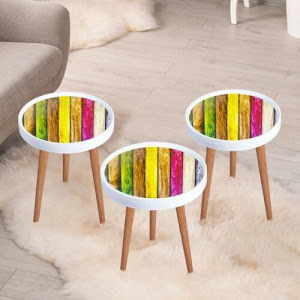Set masute de cafea, multicolor, diametru 39 cm - RS147