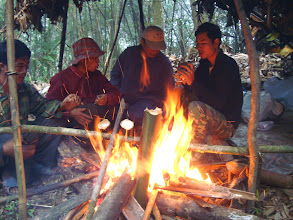 Photo: Bamboo cooking and prepare food-3 Days Nam Ha Jungle Camp in Luang Namtha, Laos